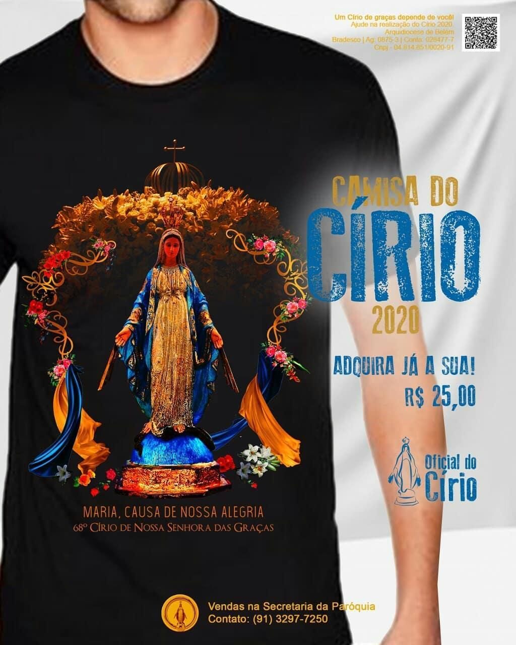 Lindas Camisas exclusivas para o Círio de Nossa Senhora das Graças