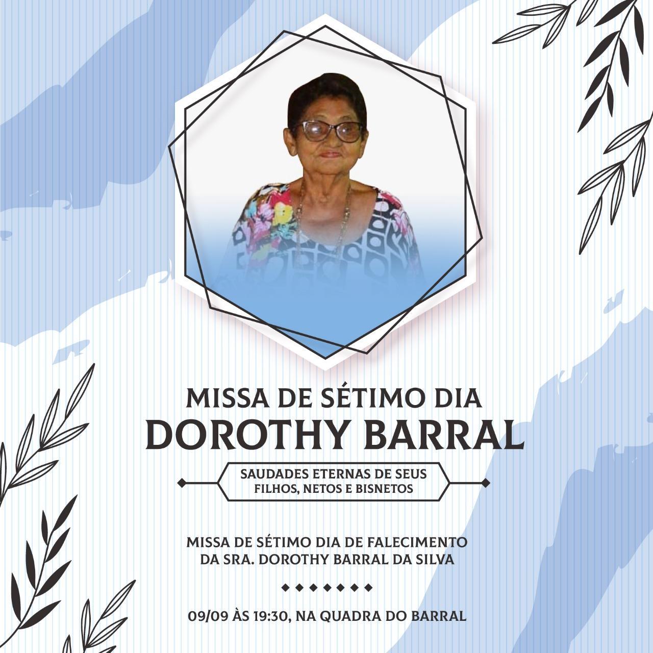 Nota pesar -missa de sétimo dia - Sra. Dorothy Barral